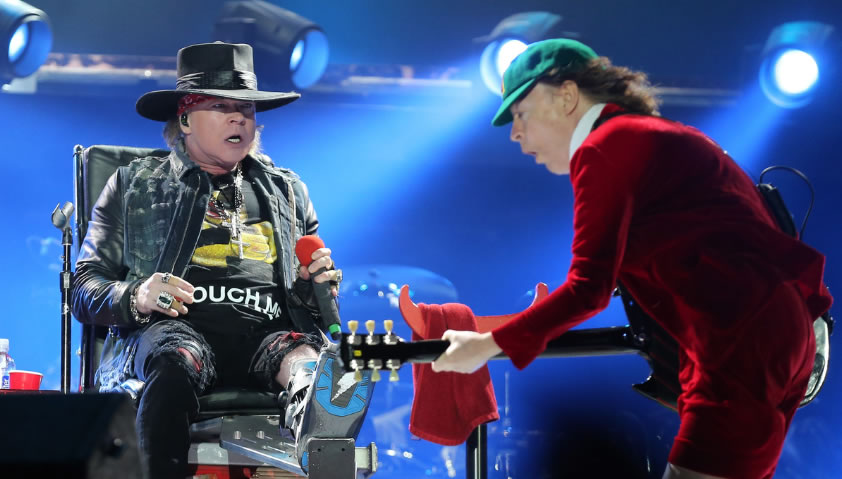 Debut de Axl Rose con AC/DC