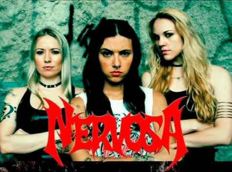 Las bellas brasileñas de NERVOSA estarán de regreso con su Thrash metal en el Foro Alicia