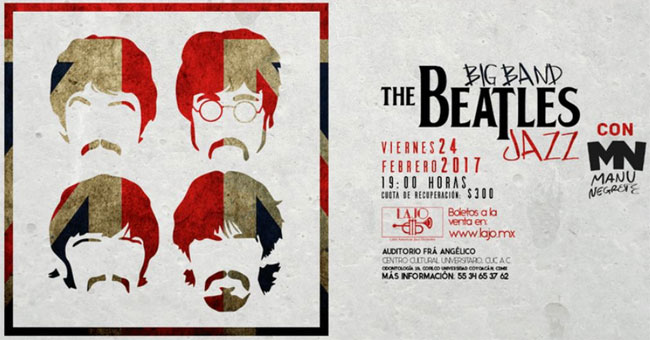 The Beatles a ritmo de Big Band Jazz, llega a la CDMX en EVENTOS.  Chicas Rockeras!