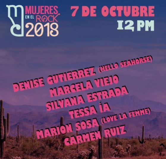 MUJERES EN EL ROCK, tercera edición - 7 de octubre