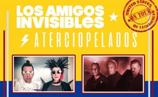 ATERCIOPELADOS Y AMIGOS INVISIBLES EN GIRA POR ESTADOS UNIDOS en EVENTOS.  Chicas Rockeras!