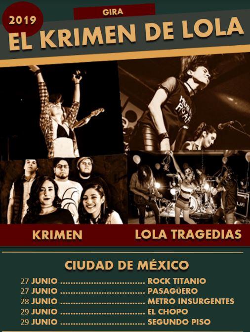 El Krimen de Lola: Vibrantes voces femeninas desde la Perla Tapatía. en MUSICA.  Chicas Rockeras!