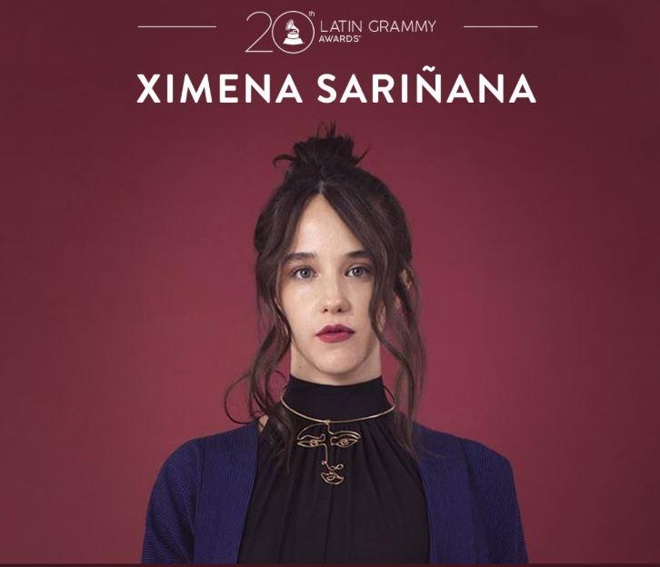 XIMENA SARIÑANA  RECIBE DOS NOMINACIONES EN LOS LATIN GRAMMY en MUSICA.  Chicas Rockeras!