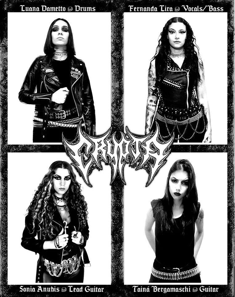 CRYPTA es el nuevo proyecto de Fernanda Lira ex-Nervosa en MUSICA.  Chicas Rockeras!