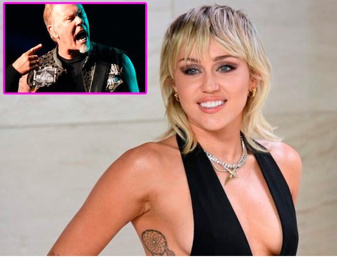 MILEY CYRUS prepara disco con covers de METALLICA.... y no es broma!