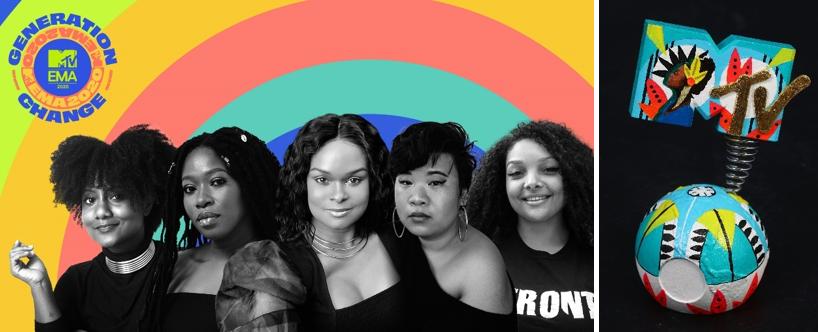 MTV otorga el 'MTV EMA GENERATION CHANGE AWARD' a 5 mujeres que luchan por la justicia racial y social alrededor del mundo en NOTICIAS.  Chicas Rockeras!