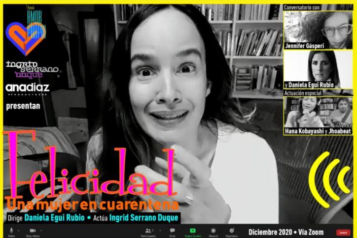 ¡DESCUBRE!  Felicidad, una Mujer en Cuarentena  Este próximo 4 de Diciembre