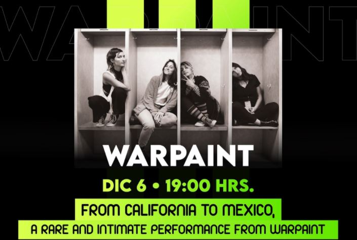 Warpaint dará un concierto IRREPETIBLE 'From California to Mexico, a rare and intimate performance from Warpaint'